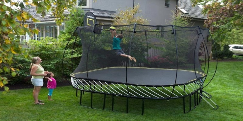 because the risk of injury for children and adults alike can be very serious when you are looking for a trampoline itu0027s useful to consider several